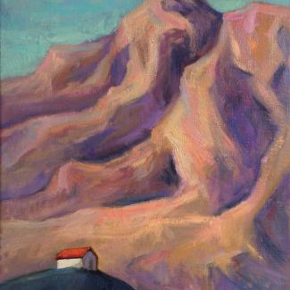 """fantasiewerk """"Huisje bij de berg"""""""