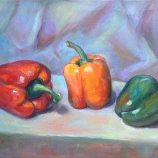 Drie paprika's